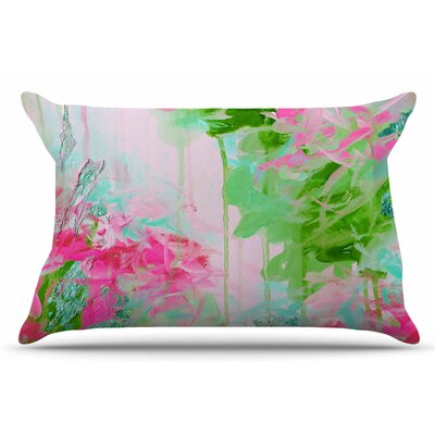 Ebi Emporium Whispered Song 2 Pillow Case Color: Pink/Green