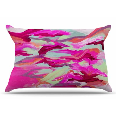 Ebi Emporium Still Up The Air Pillow Case Color: Pink/Magenta
