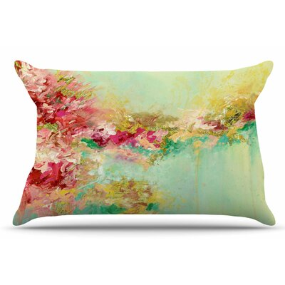 Ebi Emporium When Land Met Sky 3 Pillow Case Color: Red/Green