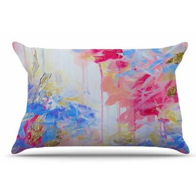 Ebi Emporium Whispered Song 2 Pillow Case Color: Blue/Yellow