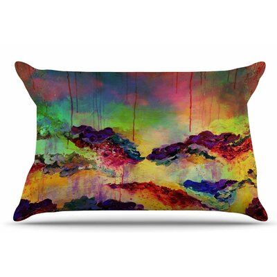 Ebi Emporium ItS A Rose Colored Life 4 Pillow Case Color: Yellow/Red