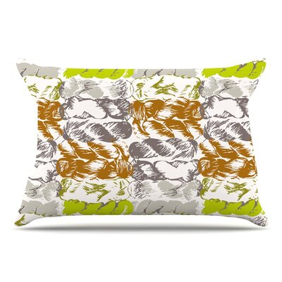 Fernanda Sternieri Nice Knot Pillow Case Color: Gray/Orange