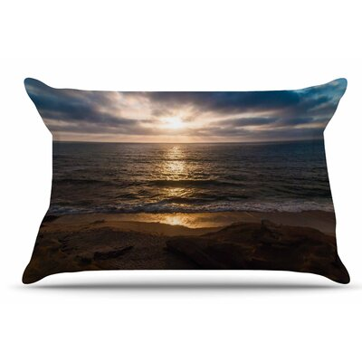 Nick Nareshni La Jolla Sunset On Beach Pillow Case