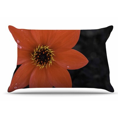 Nick Nareshni Wet Flower Petals Pillow Case