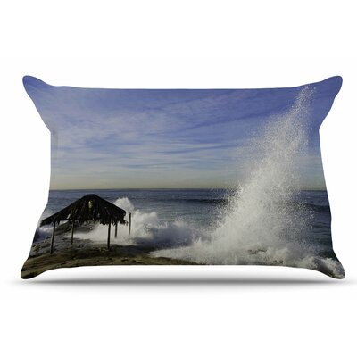 Nick Nareshni Hut With Crashing Wave Pillow Case