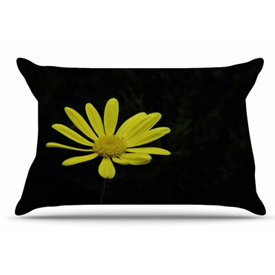 Nick Nareshni Yellow Petal Daisy Floral Photography Pillow Case
