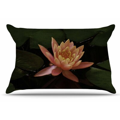 Nick Nareshni Lily Pad Flower Coral Pillow Case