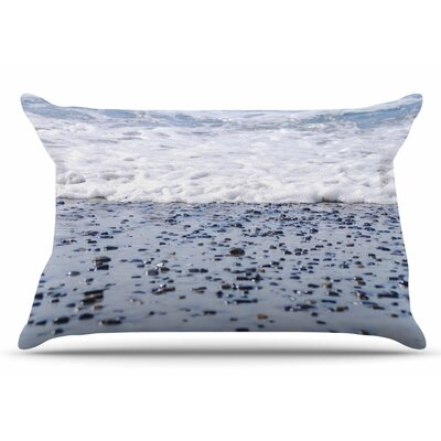 Nick Nareshni Solana Beach Sand Stones Pillow Case