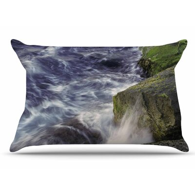 Nick Nareshni Wave Against La Jolla Rocks Ocean Pillow Case