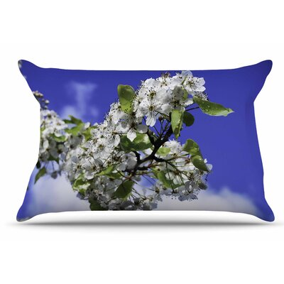 Nick Nareshni Cherry Blossoms And Sky Pillow Case