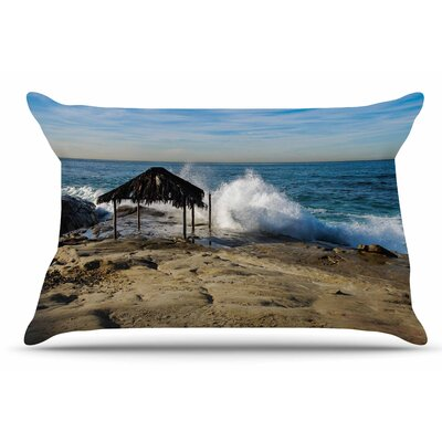 Nick Nareshni Straw Hut On Beach Pillow Case