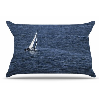 Nick Nareshni Boat On The Ocean Pillow Case