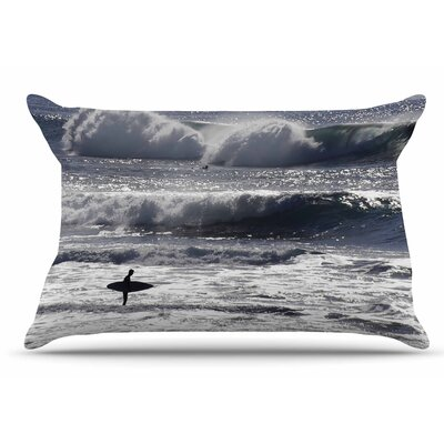 Nick Nareshni Lone Surfer Pillow Case