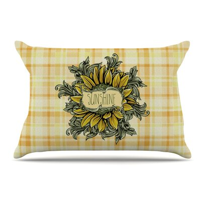 Nick Atkinson Sunflower Sunshine Pillow Case
