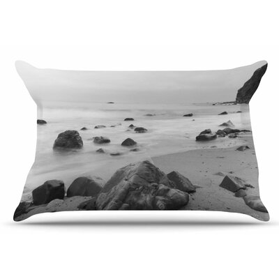 Nick Nareshni Water Moving Around Rocks Pillow Case