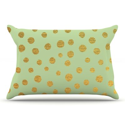 Nika Martinez Golden Dots Pillow Case