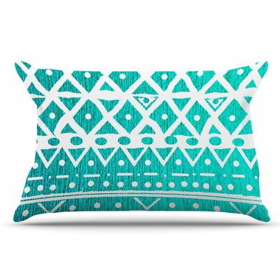 Nika Martinez Aquamarine Tribal Pillow Case