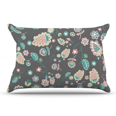Nika Martinez Cute Winter Floral Pastel Pillow Case