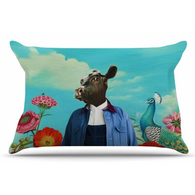 Natt 'Family Portrait N2' Cow Pillow Case