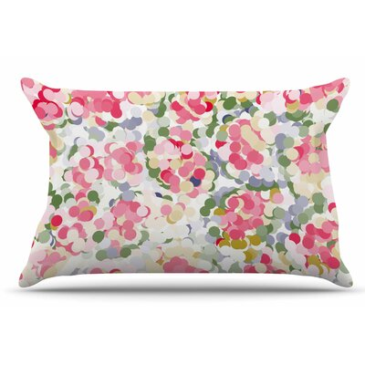 Matthias Hennig 'Soft Dots' Floral Pillow Case