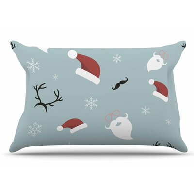 Louise Happy New Year! Christmas Santa Pillow Case