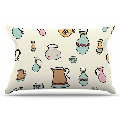Louise Jugs Pastel Pillow Case