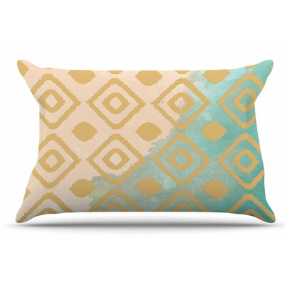 Nika Martinez Watercolor Ikat Pillow Case