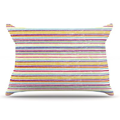 Nika Martinez 'Summer Stripes' Abstract Pillow Case