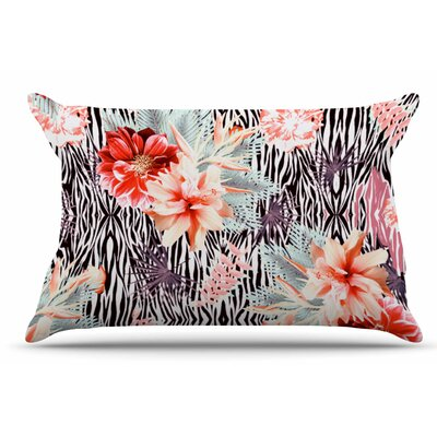 Nika Martinez 'Tropical Fusion' Floral Pillow Case