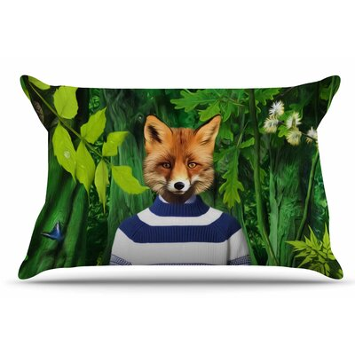 Natt 'Into The Leaves N7' Fox Pillow Case