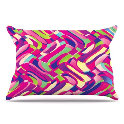 Dawid Roc Colorful Movement Abstract Pillow Case