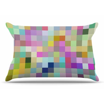 Dawid Roc Colorful Pixels Pillow Case