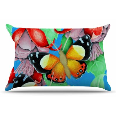 Vinny Thompson Yellow Admiral Tropical Pillow Case