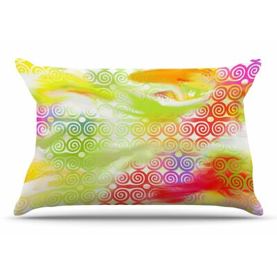 Dan Sekanwagi Locked RamS Horns Rainbow Abstract Pillow Case