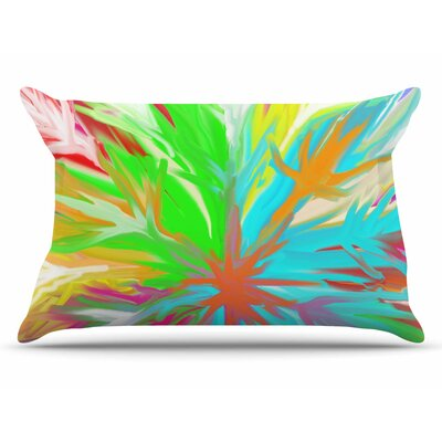 Dan Sekanwagi Tropical Paradise Rainbow Abstract Pillow Case