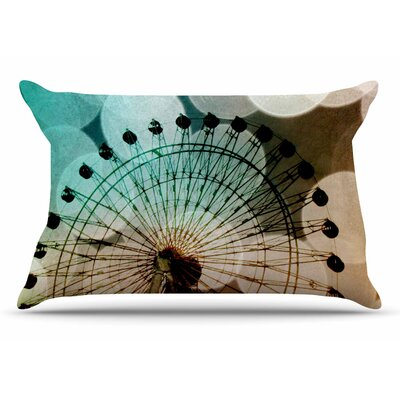 Sylvia Coomes Ferris Wheel Silhouette Pillow Case