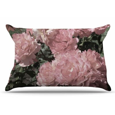 Susan Sanders Blush Flowers Floral Photography Pillow Case