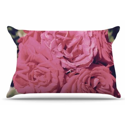 Susan Sanders Blush Blooming Roses Floral Photography Pillow Case