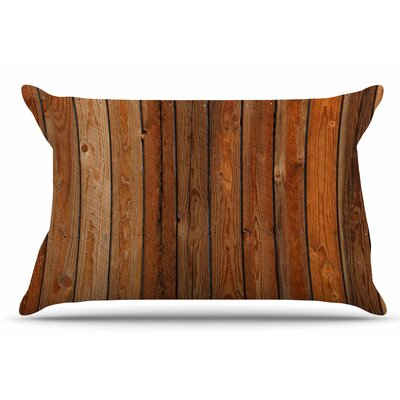 Susan Sanders Rustic Wood Wall Nature Pillow Case