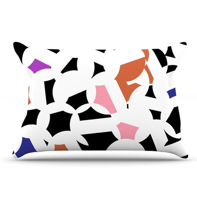 Gabriela Fuente Geo Chic Pillow Case Color: Orange