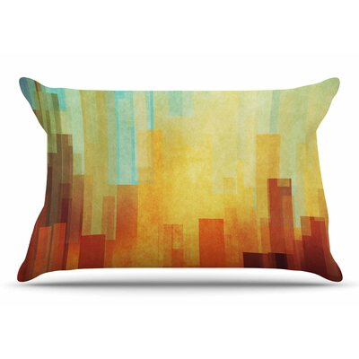 Cvetelina Todorova Urban Sunset Geometric Pillow Case