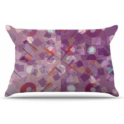 Cvetelina Todorova Purple Mess Abstract Pillow Case