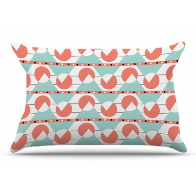 Stephanie Vaeth Geometric Coral Pillow Case
