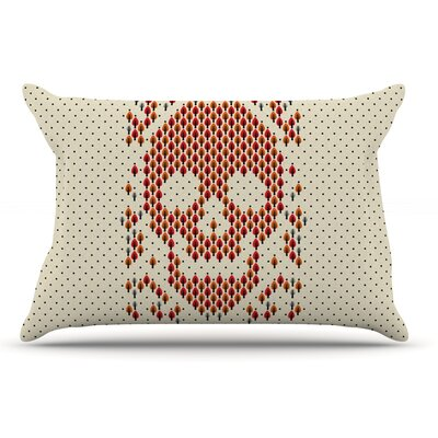 Tobe Fonseca Deforestation Skull Illustration Pillow Case