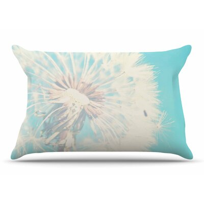 Sylvia Coomes Aqua Dandelion Photography Floral Pillow Case