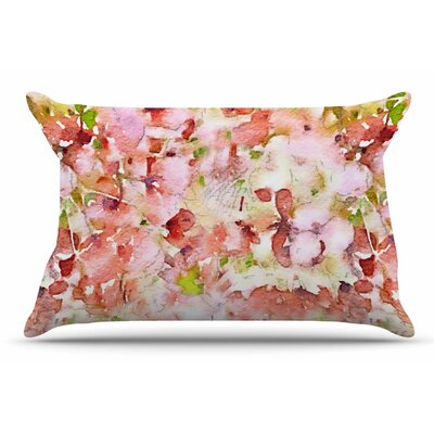 Carolyn Greifeld Floral Fantasy Abstract Pillow Case Color: Pink