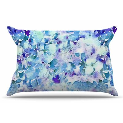 Carolyn Greifeld Floral Fantasy Abstract Pillow Case Color: Blue/Purple