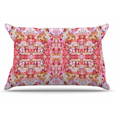Carolyn Greifeld Floral Reflections Pillow Case Color: Pink/Red