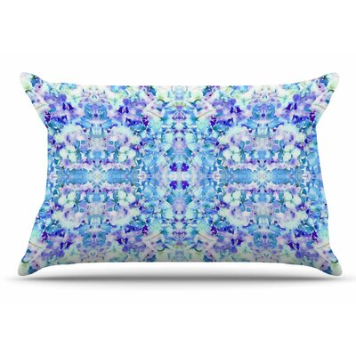 Carolyn Greifeld Floral Reflections Pillow Case Color: Purple/White