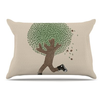 Tobe Fonseca Run For Your Life Tree Illustration Pillow Case